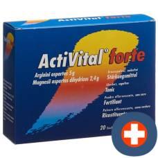 Activital forte effervescent plv orange lime btl 10 pcs