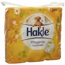 Hakle nourishing cleanliness of toilet paper fsc 9 units