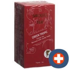 Sirocco teabags green tropic 20 pcs