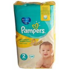 Pampers premium protection new baby gr2 4-8kg mini economy pack 54 pcs