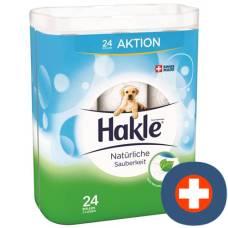 Hakle natural cleanliness of toilet paper fsc 24 pcs