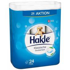 Hakle classic cleanliness of toilet paper white fsc 24 pcs