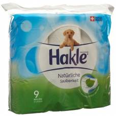 Hakle natural cleanliness of toilet paper fsc 9 units
