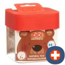 Bibi narrow neck sucker happiness natural silicone 3+ m sv-a + b