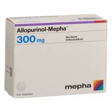 Allopurinol mepha tbl 300 mg 100 pcs