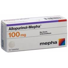 Allopurinol mepha tbl 100 mg 50 pcs
