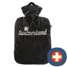 Emosan hot water bottle switzerland with edelweiss