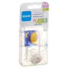 Mam night soother silicone 0-6 months girl 2 pcs