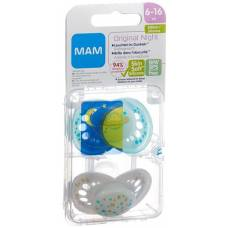 Mam night soother silicone 6-16 months boy 2 pcs