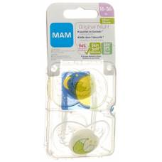 Mam night soother silicone 16-36 months girl 2 pcs