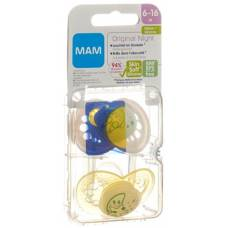 Mam night soother silicone 6-16 months girl 2 pcs