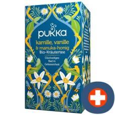 Pukka chamomile vanilla & manuka honey tea organic btl 20 pcs
