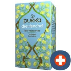 Pukka three fennel tea organic btl 20 pcs