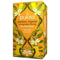 Pukka lemon ginger and manuka honey tea organic btl 20 pcs
