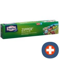 Toppits zipper general purpose pouch 3l 8 pcs