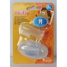 Nuby finger toothbrush with storage