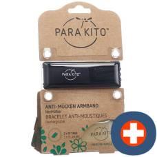 Parakito bracelet natural mosquito repellent black