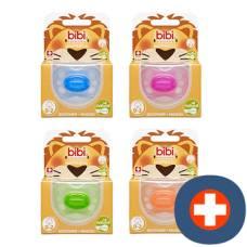 Bibi nuggi newborn happiness natural silicon 0-2 assorted colors sv-6 unit a