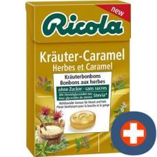 Ricola herbal caramel without sugar with stevia box 50 g