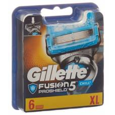 Gillette fusion5 proshield chill chill system blade system blades 6 pcs