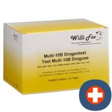 Willi fox drugs test multi drugs 10b urine 10 pcs