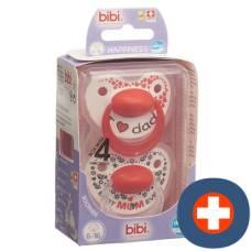 Bibi nuggi happiness dental silicone 6-16 ring mum / dad duo premium sv-a
