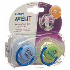 Avent philips soother ilove kiss 6-18 months boy 2 pcs