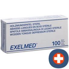 Gribi tongue depressors wooden 18x150x1.2mm sterile 100 pcs