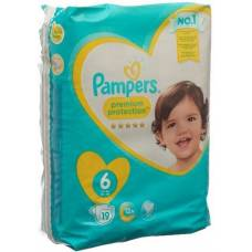 Pampers premium protection gr6 13-18kg extra large carrying pack 19 pcs