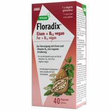 Floradix vegan iron + vitamin b12 kaps 40 pcs