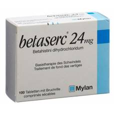 Betaserc tablets 24 mg 100 pcs
