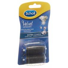 Scholl velvet smooth pedi roles extra strong diamond 2 pcs