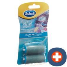 Scholl velvet smooth pedi rollers strong meeresminerialien 2 pcs