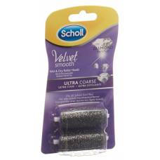 Scholl velvet smooth pedi roles ultra strong diamond 2 pcs