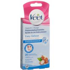 Veet cold wax strips for face for sensitive skin 10 x 2 pcs