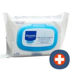Mustela facial cleansing cloth normal skin 25 pcs