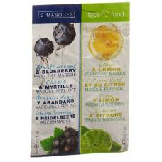 Food face mask with blueberry and lemon 2 x 6 ml