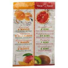 Food face face mask with apricot and grapefruit 2 x 6 ml