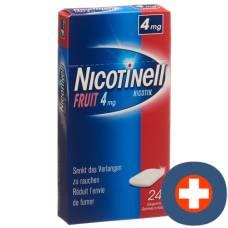 Nicotinell gum 4 mg fruit 24 pcs
