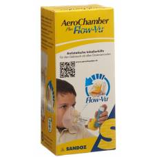 Aerochamber plus flow-vu mask (1-5 years) yellow