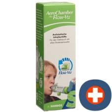 Aerochamber plus flow-vu without mask (5+ years) green