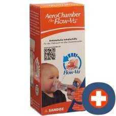 Aerochamber plus flow-vu mask (0-18 months) orange
