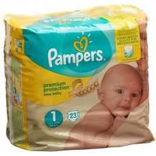 Pampers premium protection new baby newborn 2-5kg gr1 carry pack 23 pcs