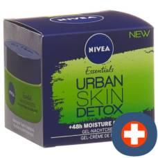 Nivea urban skin detox gel night cream 50 ml