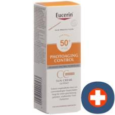 Eucerin sun photoaging control cc sun cream tinted medium spf50 + tb 50 ml