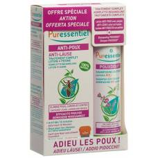 Puressentiel box anti-lice lotion with comb + lice shampoo pouxdoux bio