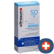 Ultrasun face fluid brightening & anti-pollution spf50 + fl 40 ml