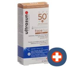 Ultrasun face fluid spf50 + tinted honey fl 40 ml
