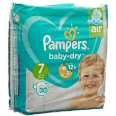 Pampers baby dry gr7 15 + kg extra large sparpackung 30 pcs