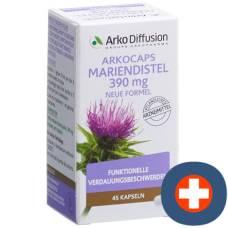 Arkocaps milk thistle 390 mg kaps new formula ds 45 pcs